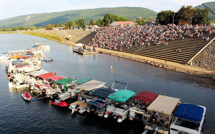 Lock Haven floating stage PA Wilds