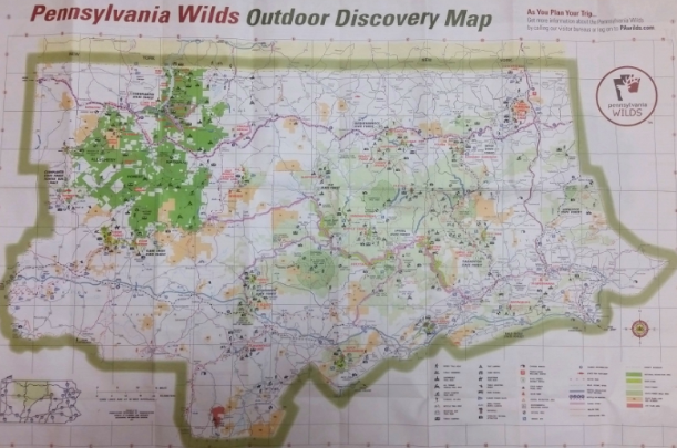 PA Wilds Outdoor Discovery Map: Handy tool for regional exploration on
