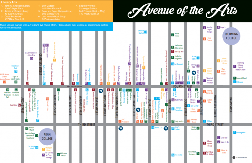 Avenue of the Arts map screenshot