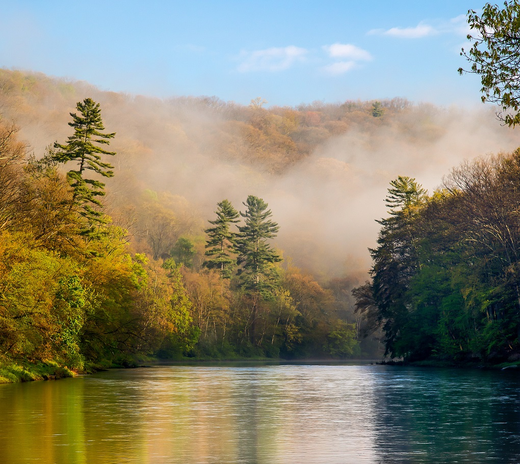 This Clarion River photo by Bob Wick will be used for the 2019 stamp.