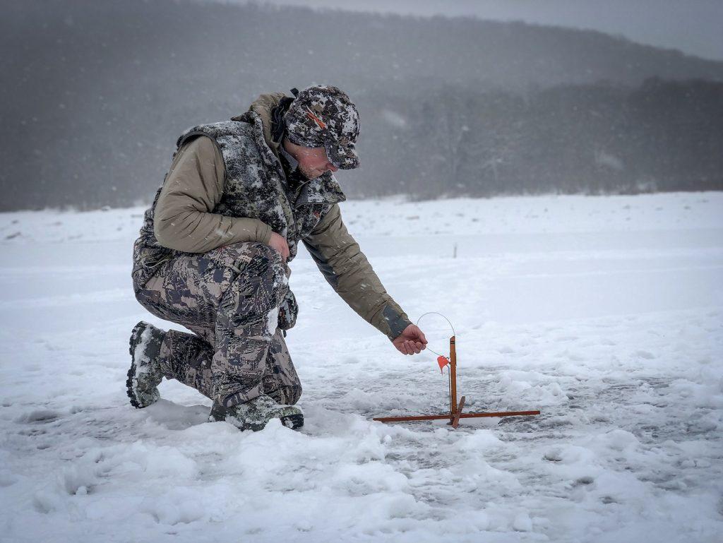 Beau Martonik ice fishing