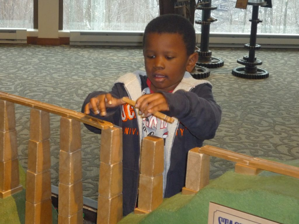 Paul plays at the Kinzua Bridge State Park Visitor Center. Photo by Lou Bernard.