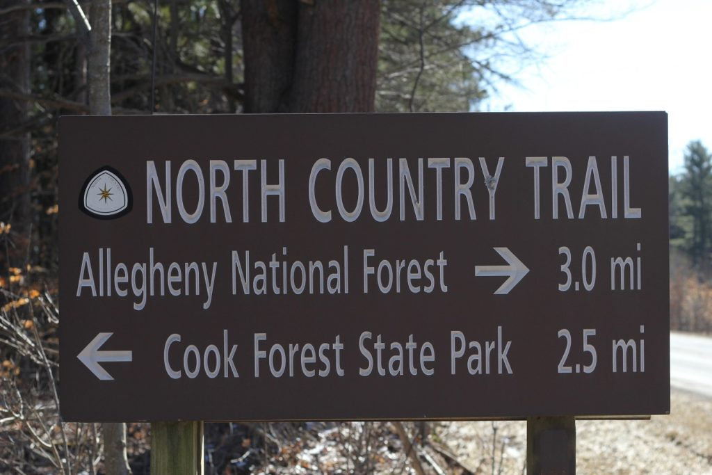 North Country Trail sign by Dale Yohe
