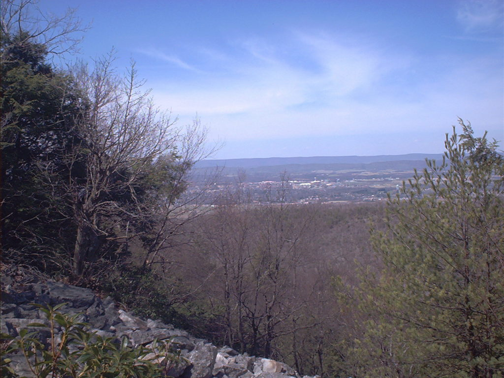 View of State College from the Mid State Trail.