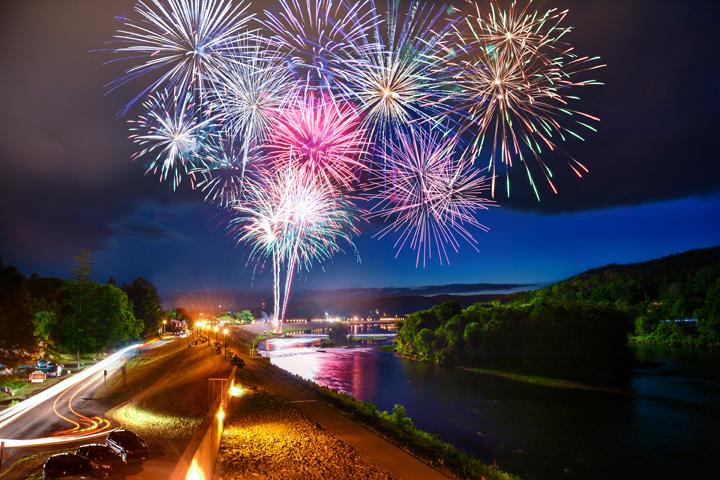 Riverfest Fireworks in Lock Haven