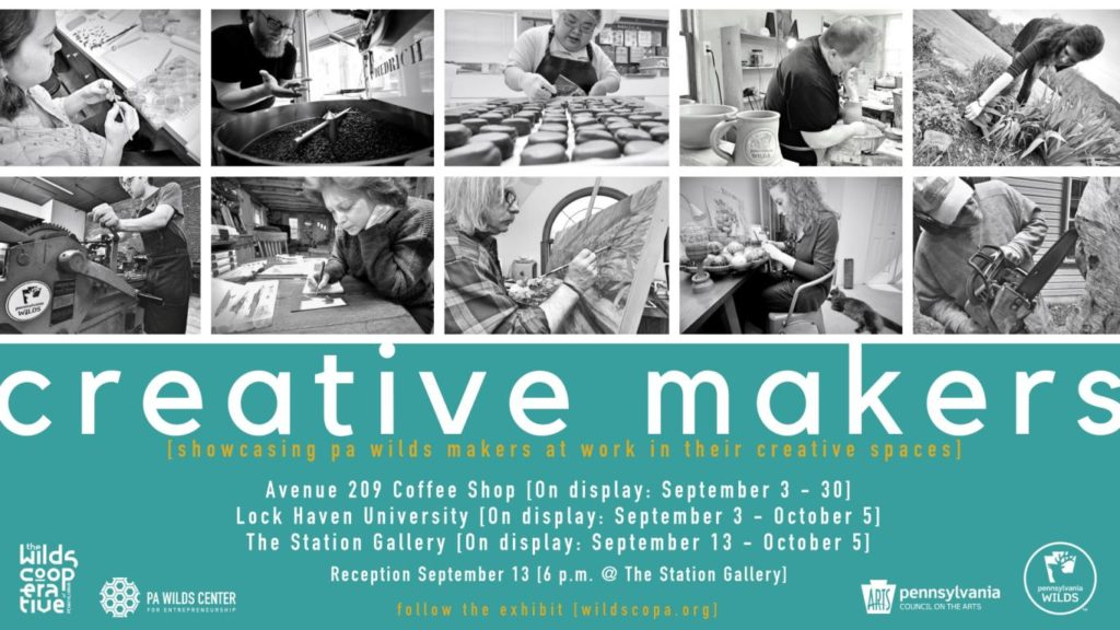 Creative Makers exhibit banner - lock haven