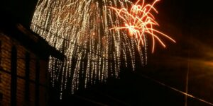 fireworks in the sky of pa wilds