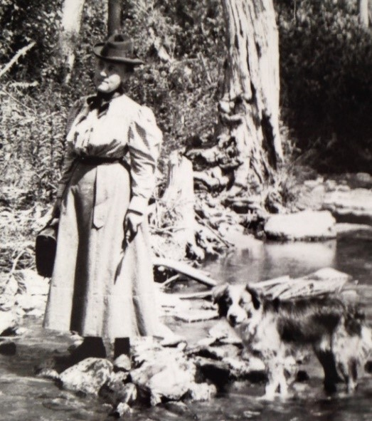 Mira Dock photo with her dog PA Wilds