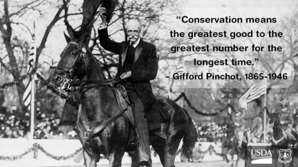 Gifford Pinchot quote Photo by USDA PA Wilds